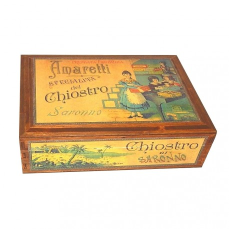 Pasticceria Saronno - Assortiment - Wooden Box. - 300g